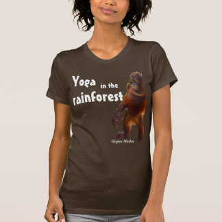 Yoga de la selva tropical camisetas