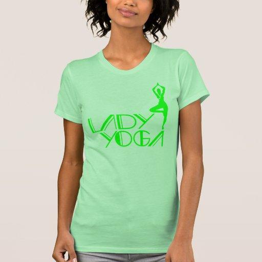 yoga de la señora tshirts
