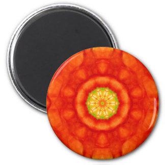 Yoga de Lotus y arte inspirado del este de la Imán Redondo 5 Cm