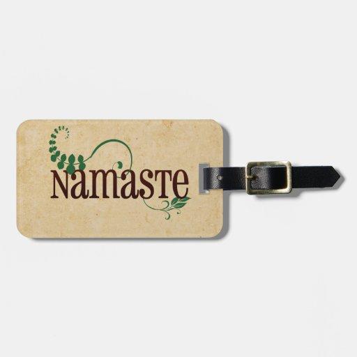 Yoga de Namaste Etiquetas Para Equipaje