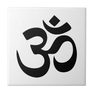 Yoga de OM Azulejo Cuadrado Pequeño