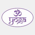 Yoga de OM Calcomanías De Óvales Personalizadas