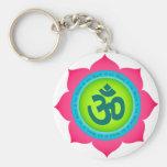 Yoga de OM de la flor de Namaste Lotus Llaveros Personalizados