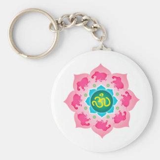 Yoga de OM de la flor de Namaste Lotus Llavero Redondo Tipo Pin