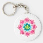 Yoga de OM de la flor de Namaste Lotus Llaveros