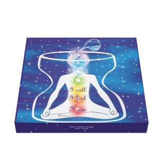 Yoga de siete Chakra Lienzo Envuelto Para Galerías