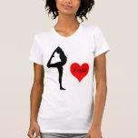 Yoga del amor camiseta
