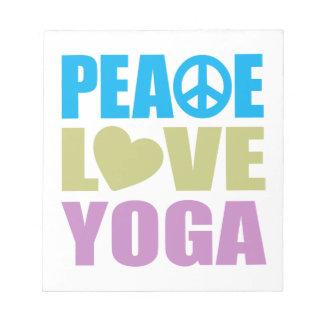Yoga del amor de la paz bloc de notas