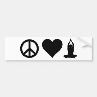 Yoga del amor de la paz pegatina para auto