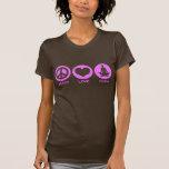 Yoga del amor de la paz camisetas