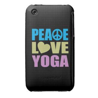 Yoga del amor de la paz Case-Mate iPhone 3 protector