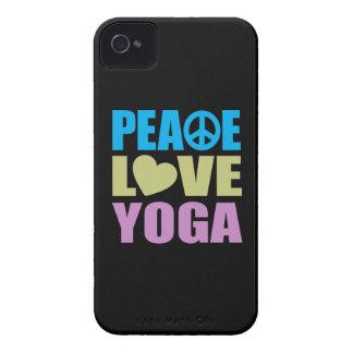 Yoga del amor de la paz Case-Mate iPhone 4 cobertura