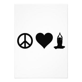 Yoga del amor de la paz invitación