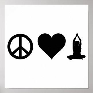Yoga del amor de la paz poster