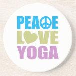 Yoga del amor de la paz posavasos manualidades