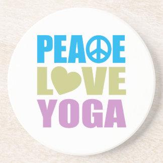Yoga del amor de la paz posavasos personalizados