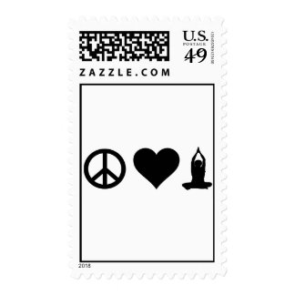 Yoga del amor de la paz sellos