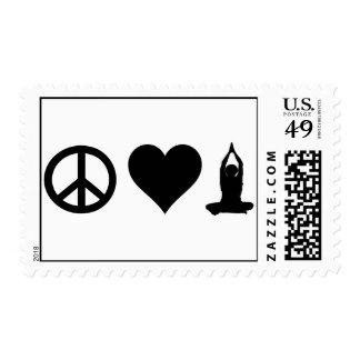 Yoga del amor de la paz sello