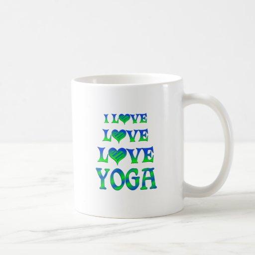 Yoga del amor del amor taza de café