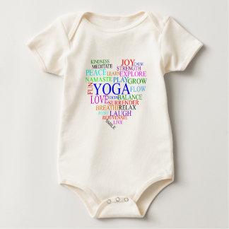 Yoga del corazón - ropa orgánica del bebé de la mameluco