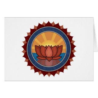 Yoga del flor de Lotus Tarjetón