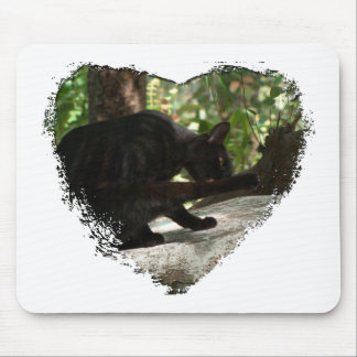 Yoga del gato negro de BYOG Alfombrillas De Ratón