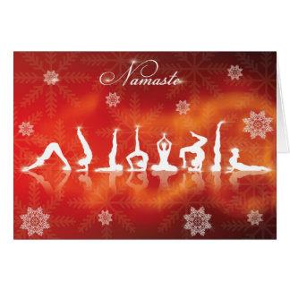 Yoga del navidad tarjeta
