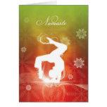 Yoga del navidad tarjeta de felicitación