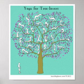"""Yoga del planeta de HP2356 """"Harold"""" """"para los árbo Póster"""