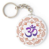Yoga Design / Om Motif 1 Keychain