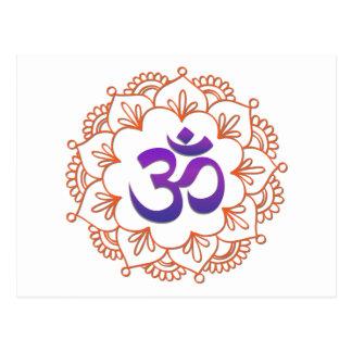 Yoga Design / Om Motif 1 Postcard
