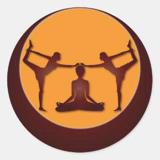 Yoga Design / Poses 1 Classic Round Sticker