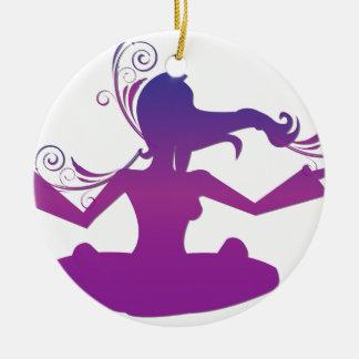 Yoga Design / Poses 2 Ceramic Ornament