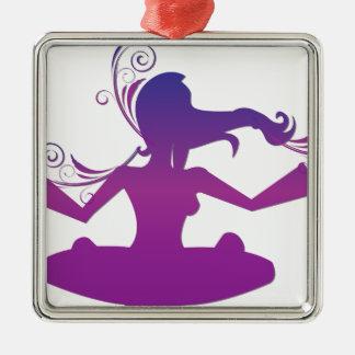 Yoga Design / Poses 2 Metal Ornament