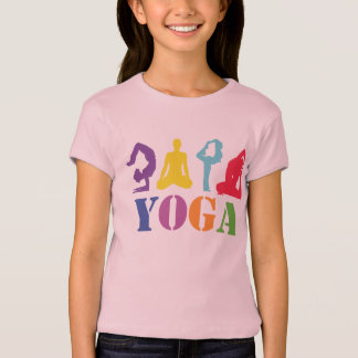 Yoga design T-shirt for the little ones