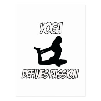 Yoga designs postcard