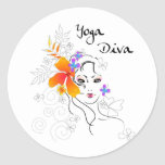 Yoga Diva Sticker