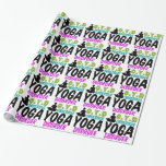 Yoga divertida papel de regalo