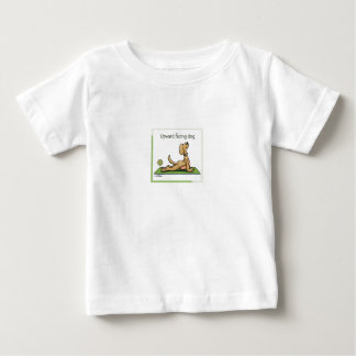 Yoga Dog - Upward Facing Dog Pose Baby T-Shirt