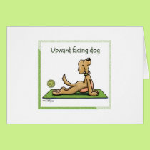 Yoga Dog - Upward Facing Dog Pose Card