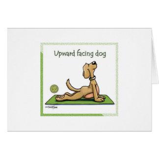 Yoga Dog - Upward Facing Dog Pose Greeting Card