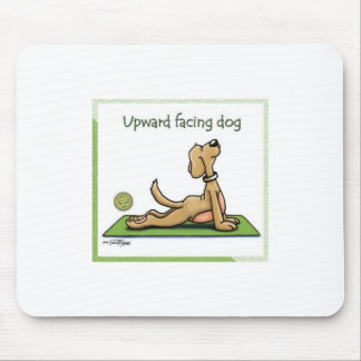 Yoga Dog - Upward Facing Dog Pose Mouse Pad