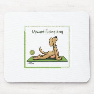 Yoga Dog - Upward Facing Dog Pose Mouse Pad