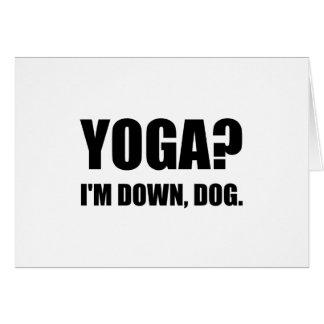 Yoga Down Dog Card