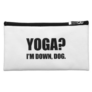 Yoga Down Dog Cosmetic Bag