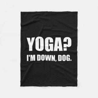Yoga Down Dog Fleece Blanket