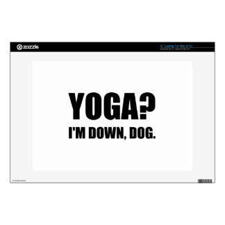 Yoga Down Dog Laptop Skins