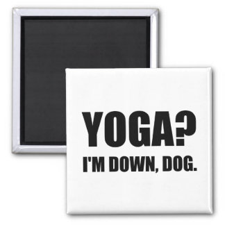 Yoga Down Dog Magnet