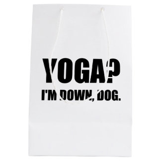 Yoga Down Dog Medium Gift Bag