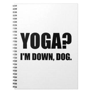 Yoga Down Dog Notebook
